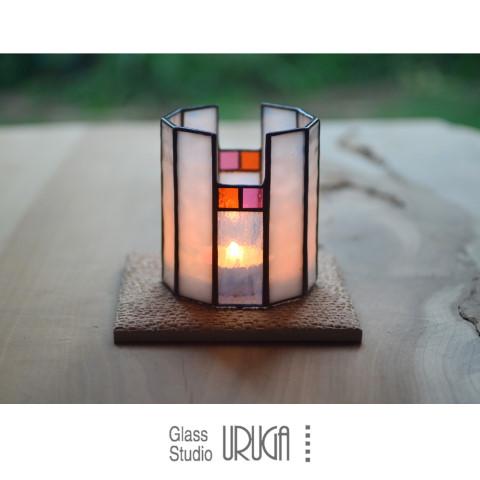 ステンドグラス キャンドルスタンド 雪灯り(ゆきあかり)