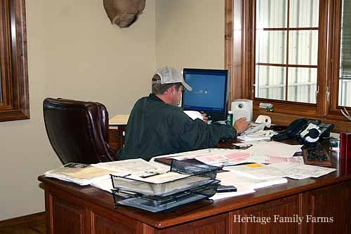 Justin in the office