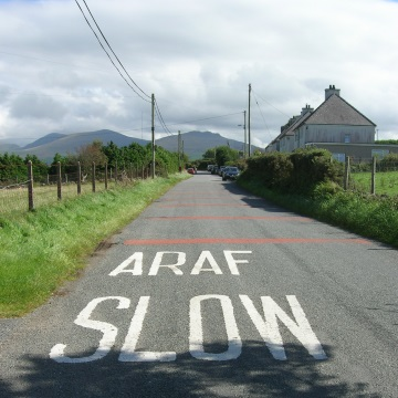 Auf der Straße von Clynnog Fawr nach Penygroes (Wales)