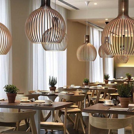 luminaire design octo par secto design dans un bar restaurant cocooning scandinave architecture intérieur décoration al intérieurs