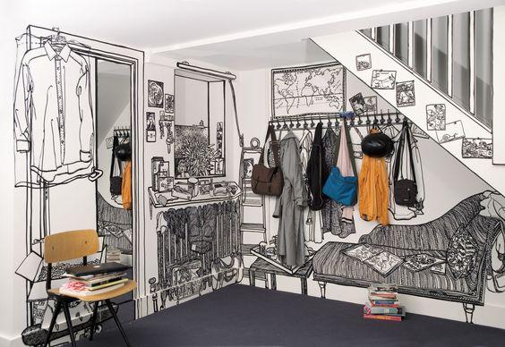 illustration murale par charlotte mann article by al intérieurs