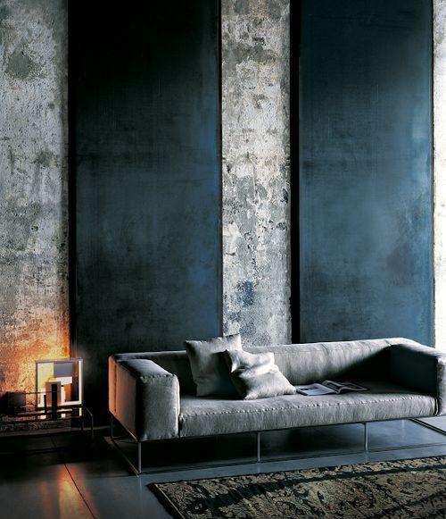Pinterest salon béton murs intérieurs design espace al intérieurs
