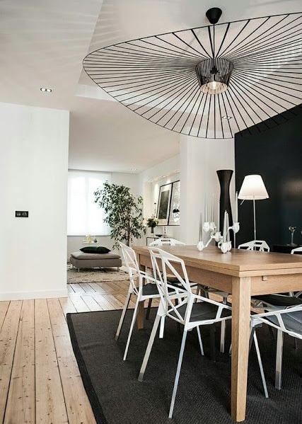 luminaire vertigo par constance guisset dans une salle à manger