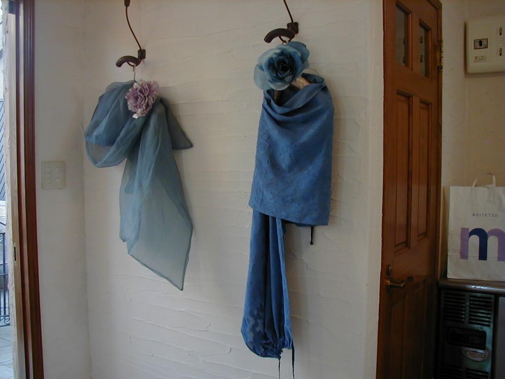 シルクスカーフ 藍