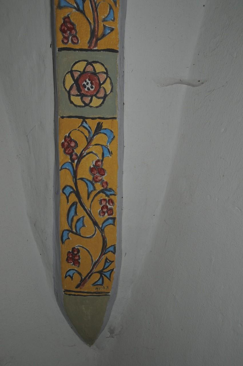 Wandmalerei in der kleinen Kapelle