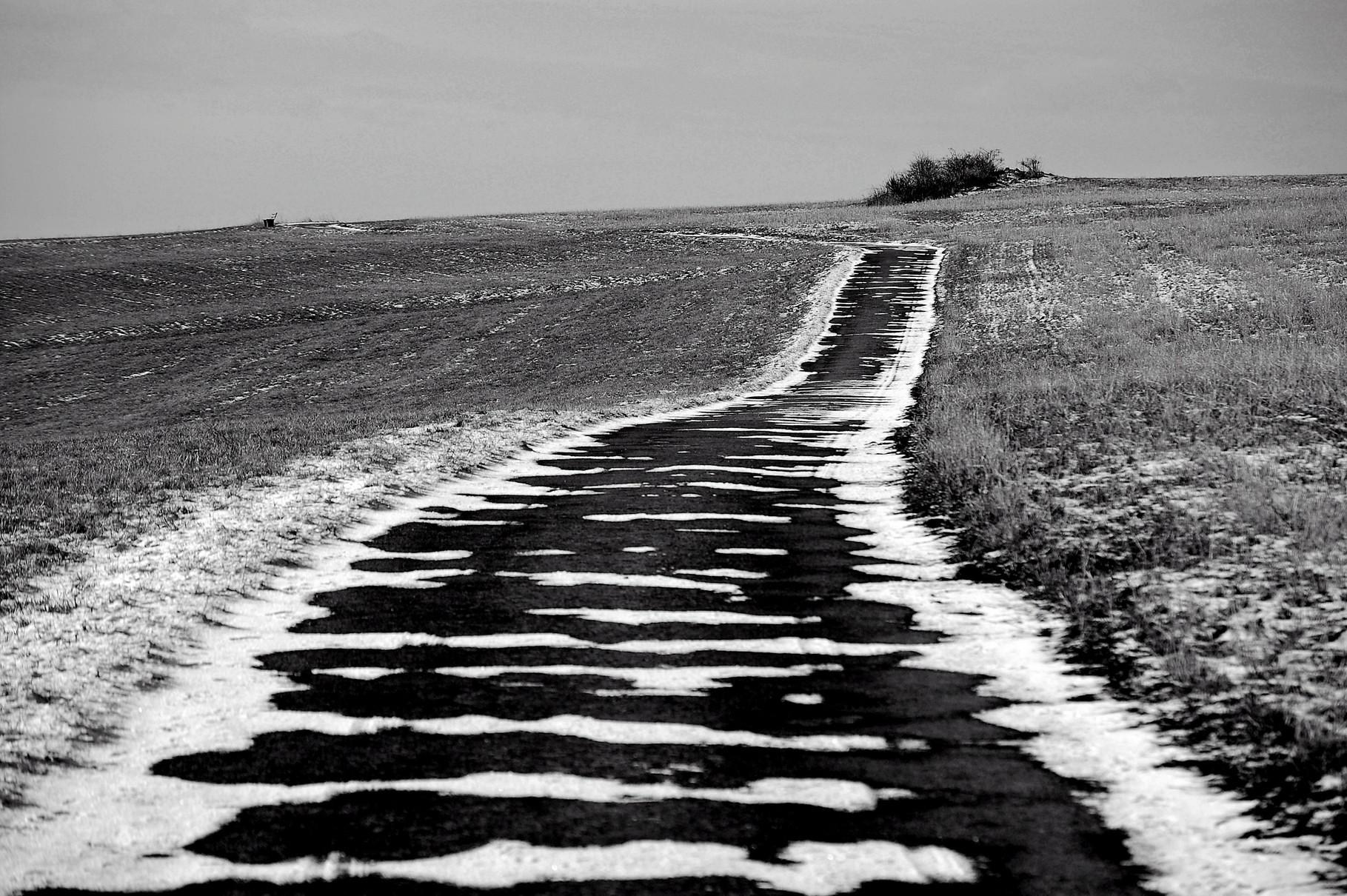 Weg auf der Korlinger Höhe
