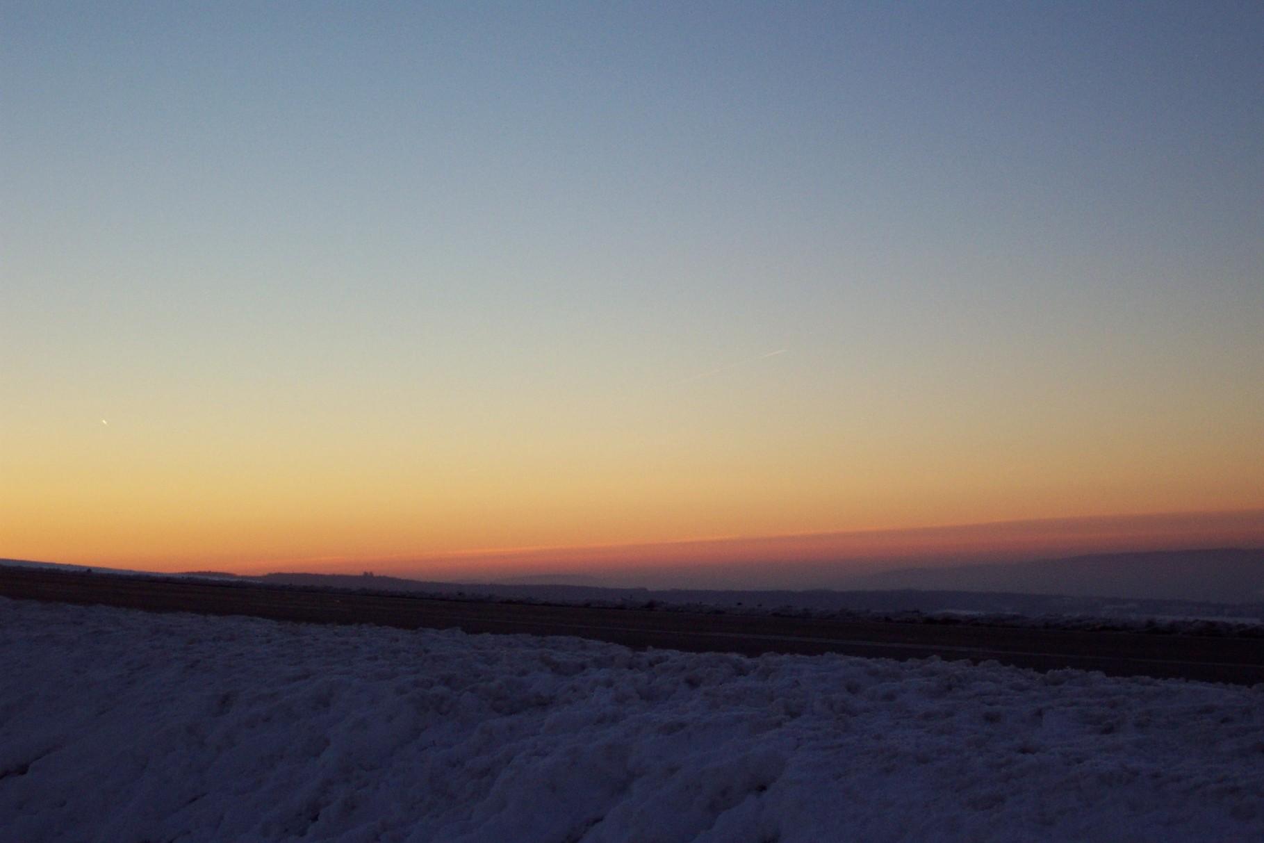 Sonnenuntergang von der Korlinger Höhe aus