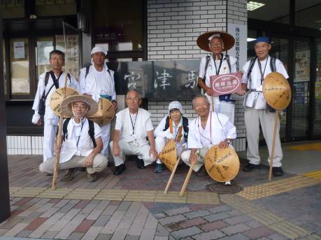 本日のスタートJR宮津駅前