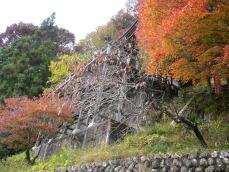 岩出観音の懸崖造り