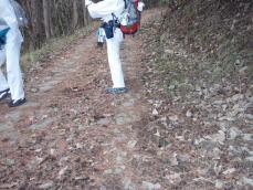 立峠の石畳
