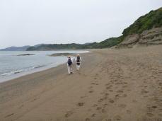 千里浜(千里王子跡へ向かう)