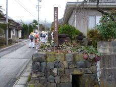 青柳宿 石組の用水路
