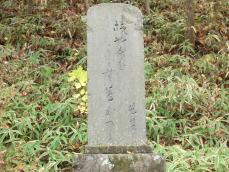 木曽の桟対岸の芭蕉句碑