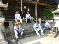 定福寺で休憩