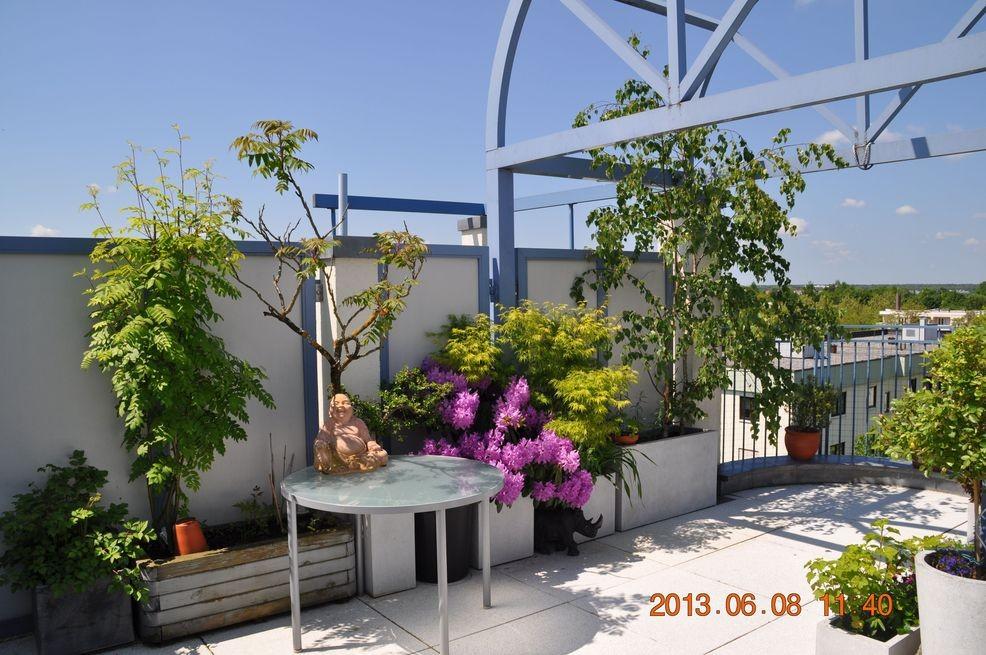 **VERKAUFT** Luxus-Dachterrassenwohnung München mit Blick auf die Alpenkette