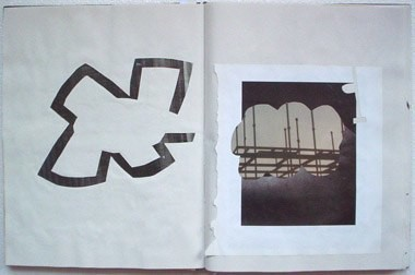 "Untitled (from 0A2), collage on paper, 13 1/2"" x 21"", 2002"