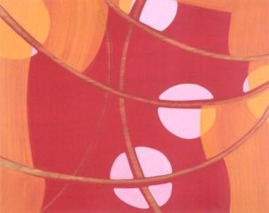 "Big Fat Dance, 24""x30"", oil on wood panel, 2003"