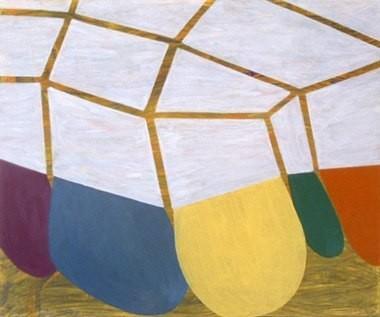 "Dark Matter Dance Party, 20""x24"", oil on wood panel, 2003"
