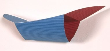 "Untitled (Blue Winged), 5 1/2"" x 12"" x 3"", marker on paper, 2005 (after original, 2000)"
