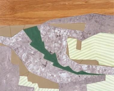 "Geometric Mood Swing, 24""x30"", oil on wood panel, 2003"