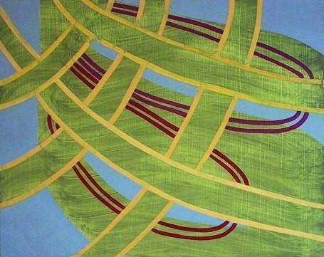 "How Wide the Orbit, 24""x30"", oil on wood panel, 2002"