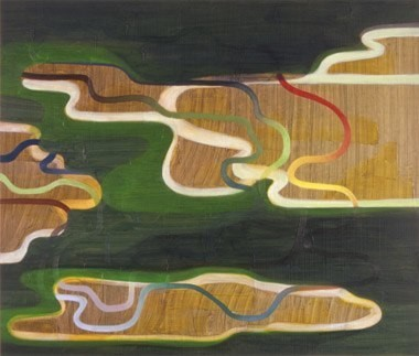 "Ice Age Heat Wave, 23""x27"", oil on wood panel, 2005"