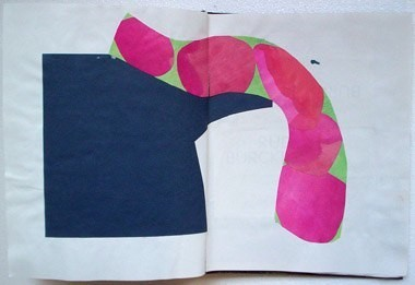 "Untitled (from 9A5), gouache and dye on paper, 13 1/2"" x 21"", 1995"
