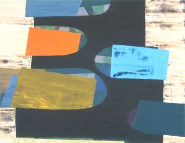 "Carroll Dunham's Laundry, 14""x18"", oil on wood panel, 2004"