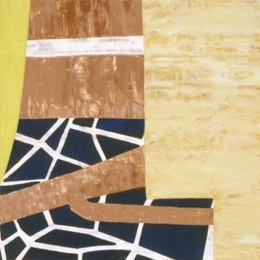 """Soil Creep, 13""""x13"""", oil on wood panel, 2001"""
