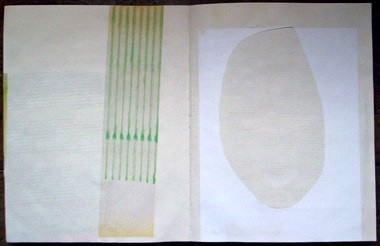 "Untitled (from 0A1), collage on paper, 13 1/2"" x 21"", 2001"