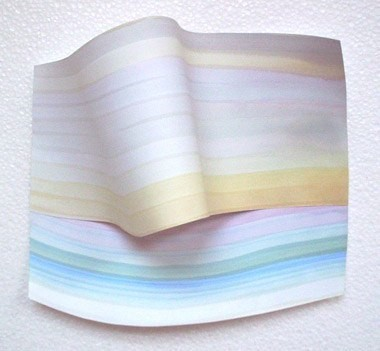 """Untitled, 7 1/2"""" x 8 1/2"""" x 2 3/4"""", gouache on paper, 2000"""