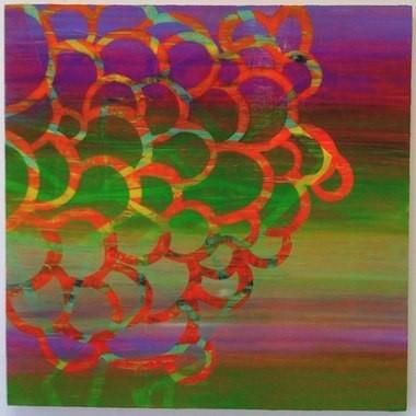 """Free Radicals, 24""""x24"""", oil on wood panel, 2009"""