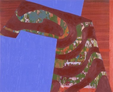 """Bent Nature, 18""""x22"""", oil on wood panel, 2000"""