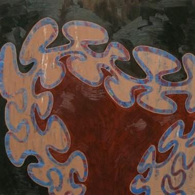 """Growth Spurt, 24""""x24"""", oil on wood panel, 2009"""