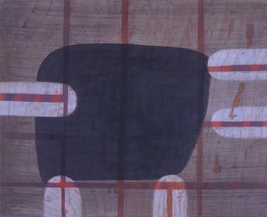 "Elephant Feelings, 18""x22"", oil on wood panel, 2003"