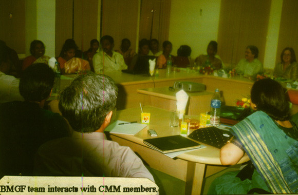 Bill and Melinda Gates Foundation Team interacting with CMM members at the APSACS Conference Hall,Hyderabad