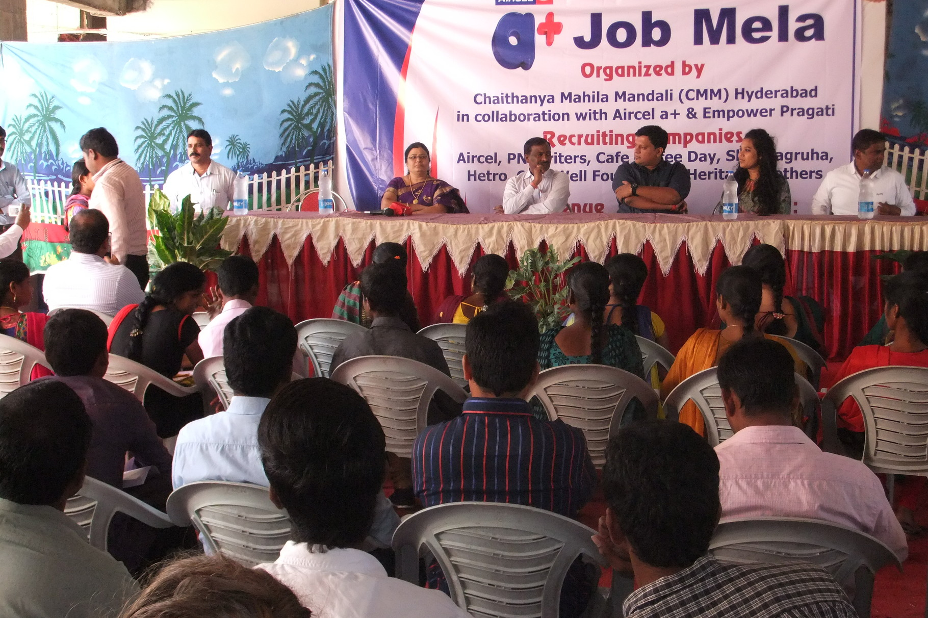 JOB Mela organized for the Unemployed Youth in partnership with Aircel Cellular Ltd at Shamshabad,Hyderabad
