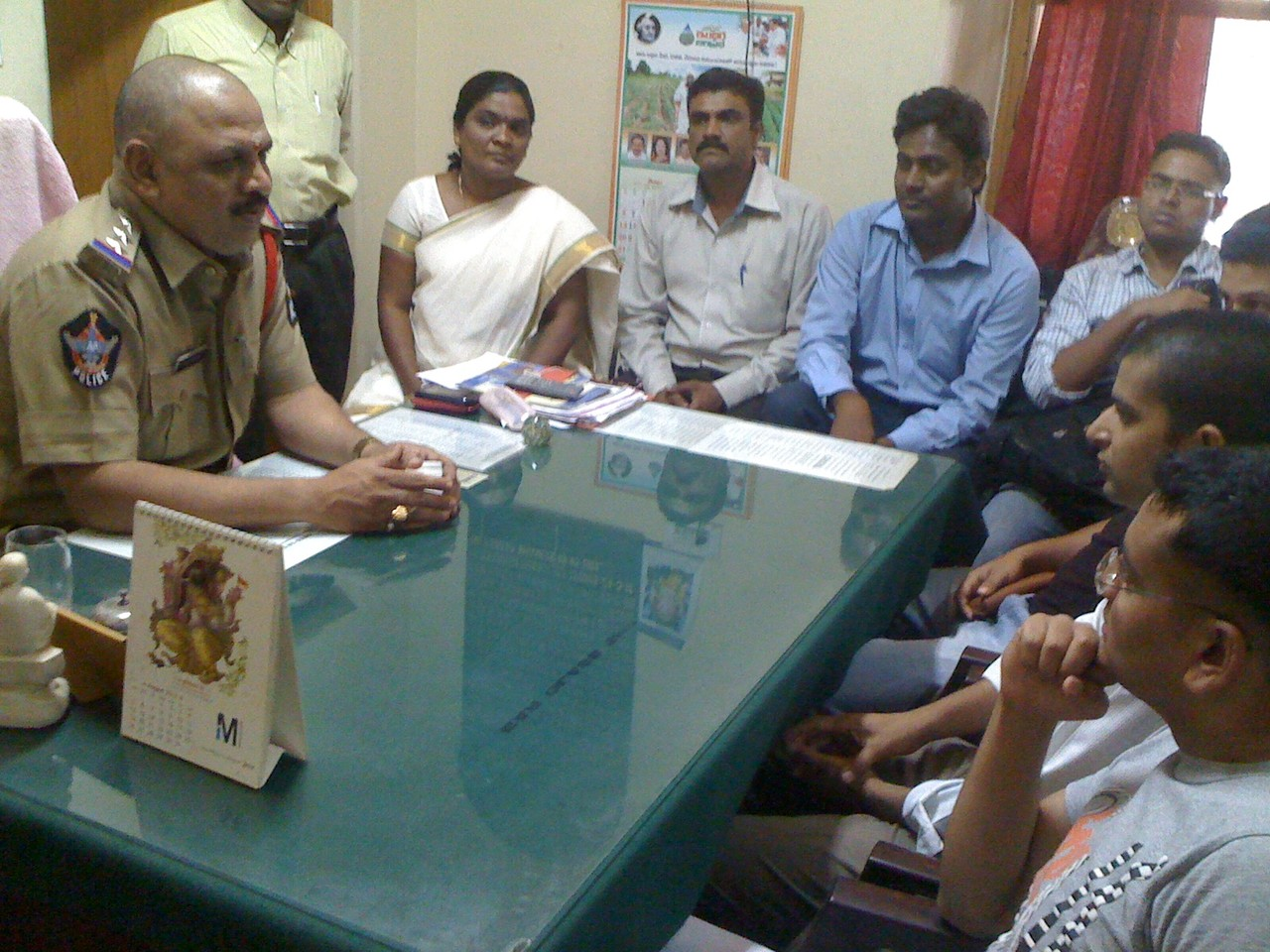 IPS Officer Trainees interacts with local Police on Field Visit organized by CMM,Part of Sensitization workshop on Marginal Communities