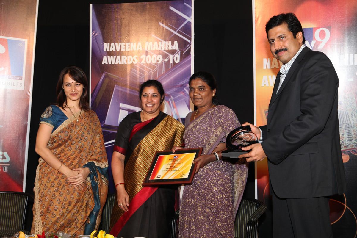 President -CMM receives NAVEENA MAHILA AWARD  given by TV-9 News Channel
