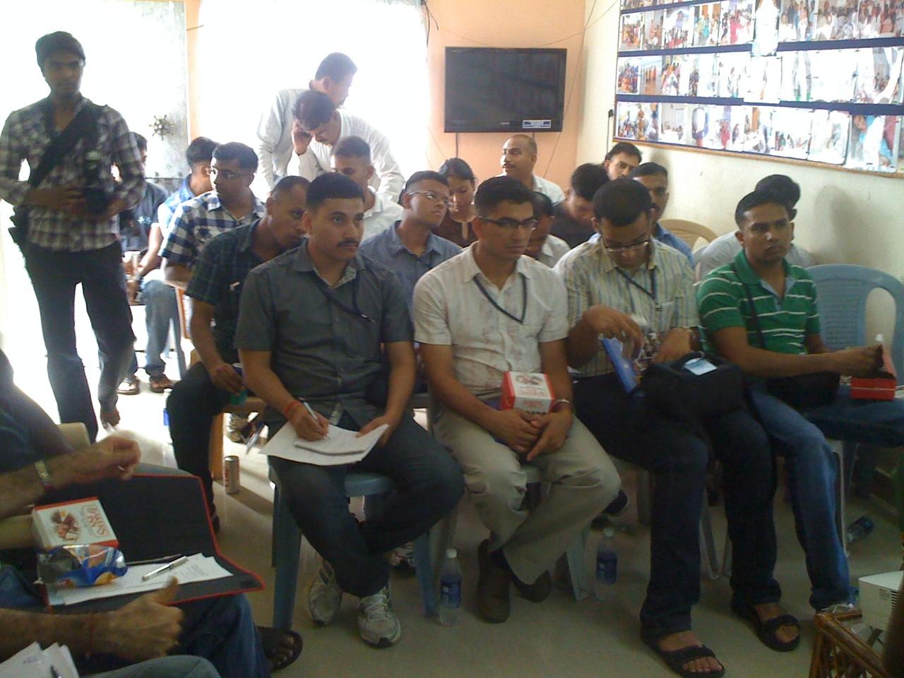 IPS Officers Trainees at CMM office ,undergoing sensitization Workshop on Marginal Communities