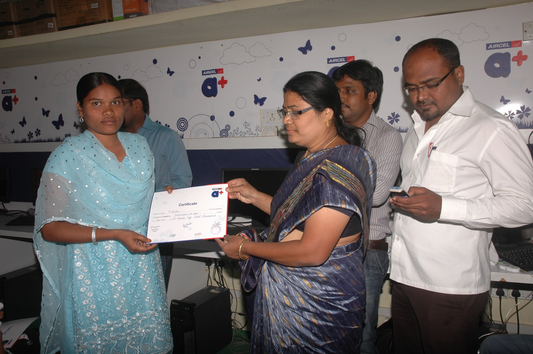 Certifiacte distribution to IT Courses traniness who had completed at CMM-Run IT Centres for rural Youth