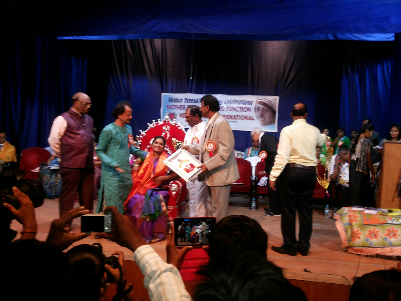 Ms.Jayamma has been facilitated by Health Care International for her contributions to the vulnerable women and children in Hyderabad