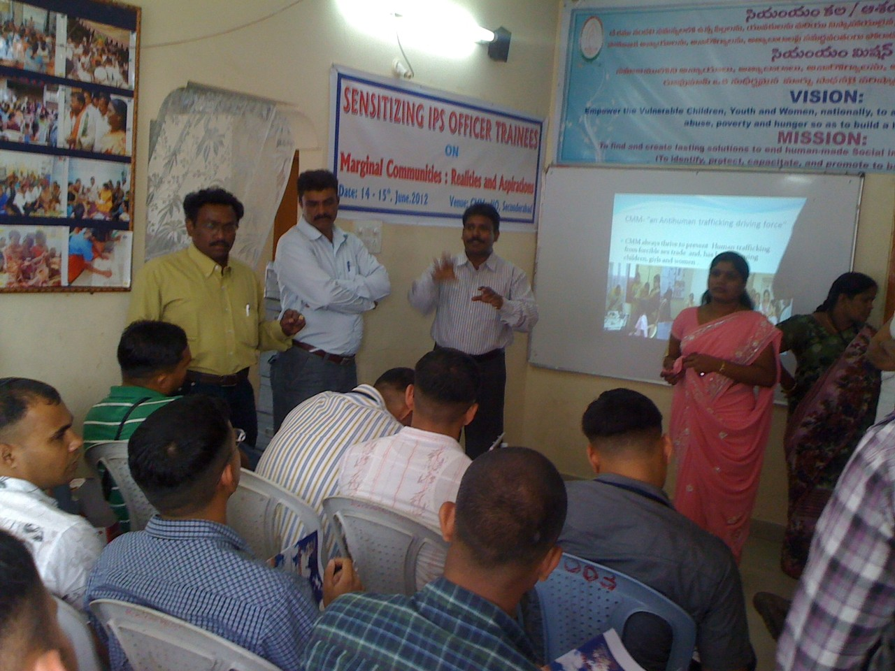 Community Member Shares of Community Issues to the IPS Officers Trainees at CMM Office..