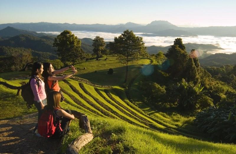 Man findet hier tolle Reisterrassen wie man sie aus Vietnam kennt