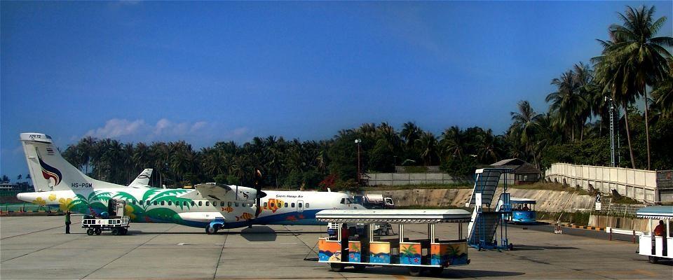 Koh Samui ist bequem per Flugzeug erreichbar...