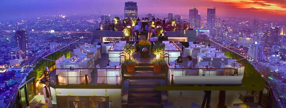 Die Rooftop-Bar's, meist auf den Dächern von Hotels, sind ein einmaliges Erlebnis mit Weitsicht