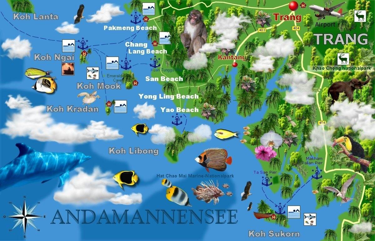 Die Provinz Trang bietet eine traumhafte Insellandschaft (total 46ig Inseln)