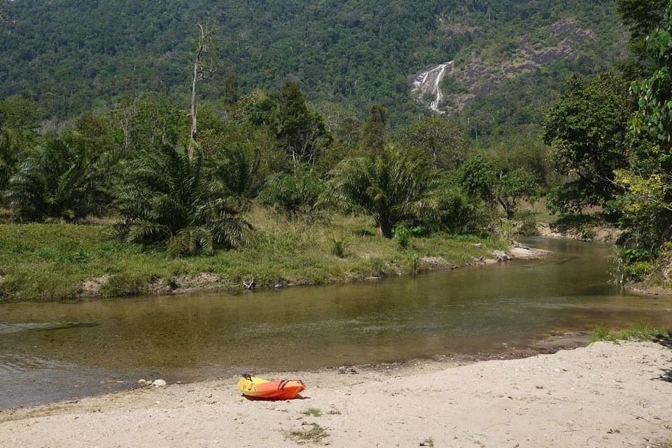 Von hier aus kann man mit dem Kajak 5Km flussabwärts padeln