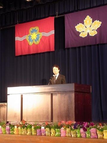 平松副会長から「エール」放送決定の経緯説明がありました