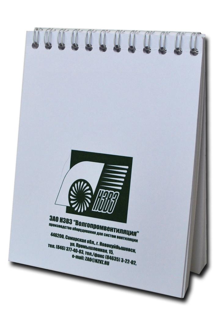 Блокнот  с логотипом А6 формат